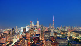 Toronto dusk stock photos