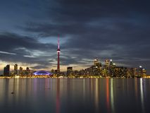 Toronto at dusk Stock Images