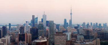 Toronto dusk Royalty Free Stock Photo
