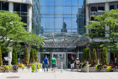 Toronto Eaton Centre. TORONTO, CANADA - 12TH JULY 2014: An entrance to the Eaton Centre in central Toronto during the day Royalty Free Stock Images