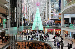 Toronto Eaton Centre Christmas Shopping stock images