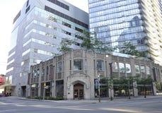 Toronto, el 24 de junio: Edificio céntrico del salón de la fama del hockey de Toronto de la provincia de Ontario en Canadá Imagen de archivo