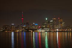 Toronto en la noche fotografía de archivo