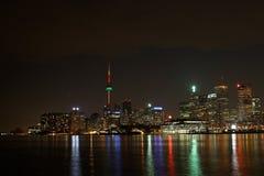Toronto en la noche foto de archivo