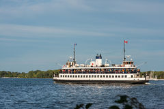 Toronto Ferry at Lake Ontario from Center Island Royalty Free Stock Photography