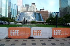 Toronto-Film-Festival und Roy Thomson Hall Lizenzfreies Stockbild