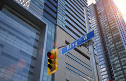 Toronto Financial District intersection Stock Images