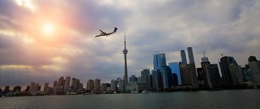 Toronto financial district skyline view royalty free stock photos