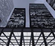 Toronto finansiellt område på natten Arkivbilder