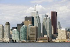 Toronto-Finanzbezirk Lizenzfreie Stockfotos