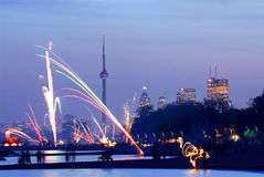 Toronto fireworks Stock Photo