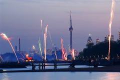 Toronto fireworks Stock Photo