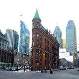 Toronto flatiron building stock photography