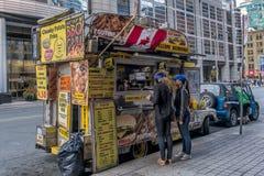 Toronto food trucks. Mobile Food Truck seen daily on street in Toronto Ontario stock image