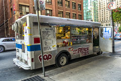 Toronto food trucks. Mobile Food Truck seen daily on street in Toronto Ontario Stock Photos