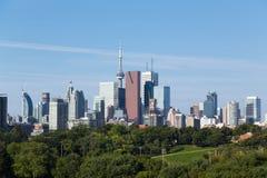 Toronto från öst Royaltyfria Foton