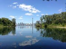 Toronto från den Toronto ön Arkivfoto