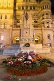 Toronto gammal stad Hall Cenotaph Royaltyfri Fotografi