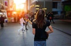 Toronto gatamusiker som underhåller folkmassan royaltyfri fotografi