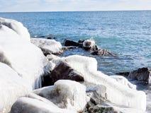 Toronto gleczeru Jeziorny krajobraz Styczeń 2017 Zdjęcia Royalty Free