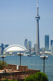 Toronto Harbor with CN Tower Stock Photography