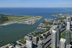 Toronto Harbour, Ontario, Canada from CN Tower Royalty Free Stock Image