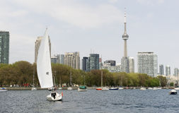 Toronto harbourfront. Panorama of toronto harbourfront in early spring Royalty Free Stock Images