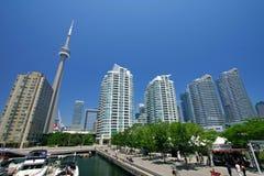 Toronto Harbourfront w lecie obraz royalty free