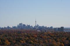 Toronto horisont i nedgången Royaltyfria Foton