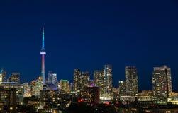 Toronto horisont och världsstolthet arkivbild