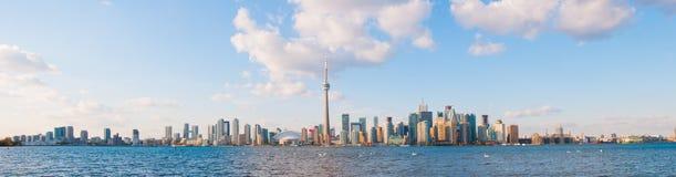 Toronto horisontpanorama royaltyfri bild