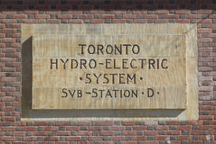 Toronto Hydro Electric System Stock Photo