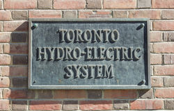 Toronto Hydro Electric System Royalty Free Stock Photos