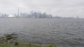 Toronto i stadens centrum sjösikt lager videofilmer