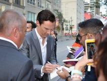 2013 Toronto International Film Festival. TORONTO - SEPTEMBER 6: Actor Benedict Cumberbatch signs autographs at the Toronto International Film Festival for his Stock Photography