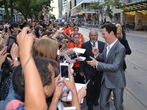 2013 Toronto International Film Festival. TORONTO - SEPTEMBER 6: Actor Benedict Cumberbatch signs autographs at the Toronto International Film Festival for his Stock Images
