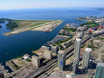 Toronto Island airport. And QEW expressway Royalty Free Stock Images