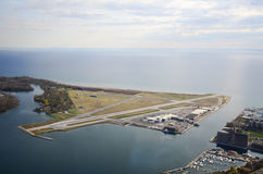 Toronto Island Airport. Looking down from cn tower Royalty Free Stock Photos