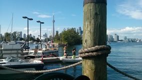 Toronto island. CN tower island view Stock Images