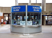 Toronto Island Tickets Booth Royalty Free Stock Photography