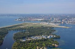 Toronto Islands aerial Stock Photography