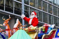 Toronto Jultomte ståtar Fotografering för Bildbyråer