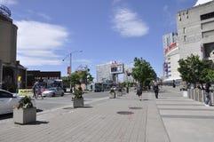 Toronto, 24 Juni: De Mening van de Bremnerstraat van Toronto in de Provincie Canada van Ontario Royalty-vrije Stock Foto