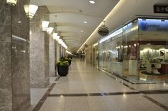 Toronto, am 24. Juni: Services und Einkaufszone innerhalb Brookfield-Platzes in Toronto von Ontario-Provinz Kanada Lizenzfreies Stockbild