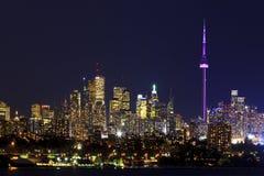 Toronto Kanada bis zum Nacht Lizenzfreies Stockfoto