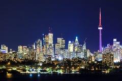 Toronto Kanada bis zum Nacht Stockfoto