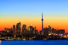Toronto Kanada bis zum Nacht Lizenzfreies Stockbild