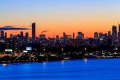 Toronto Kanada bis zum Nacht Stockfotografie
