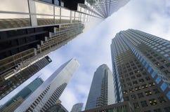 Toronto Kanada - Januari 27, 2016: Skyskrapor i i stadens centrum Toronto, finansiellt område Arkivbilder