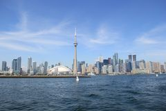 Toronto Kanada, Lake Ontario Arkivfoton